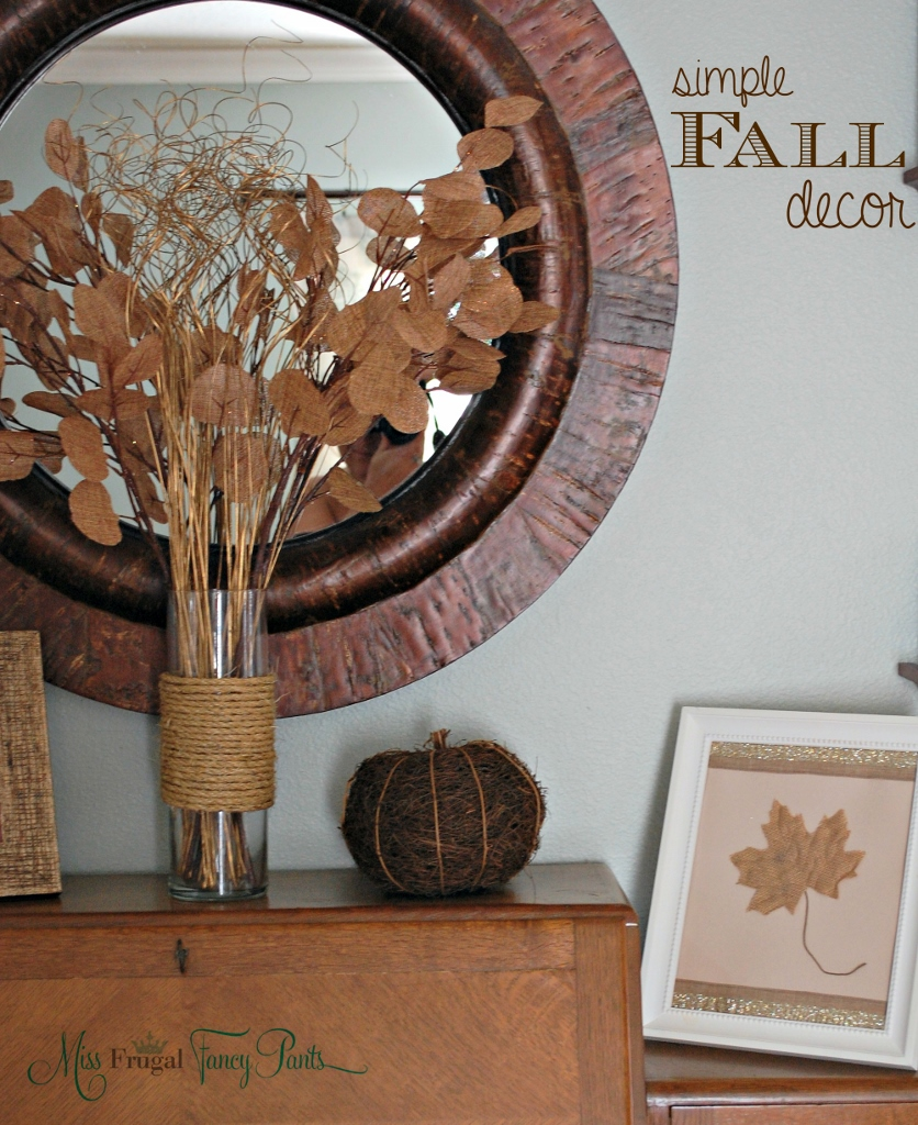 Frugal Home Decorating: A Few More Simple Thanksgiving Decor Ideas